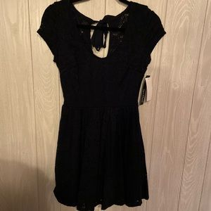 Sequin Hearts Navy Blue Lace Dress Size 5